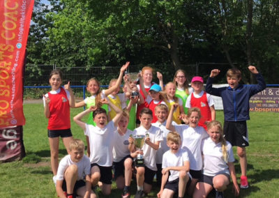 Pontefract school children at a Elite Kids Coaching multi-sports camp